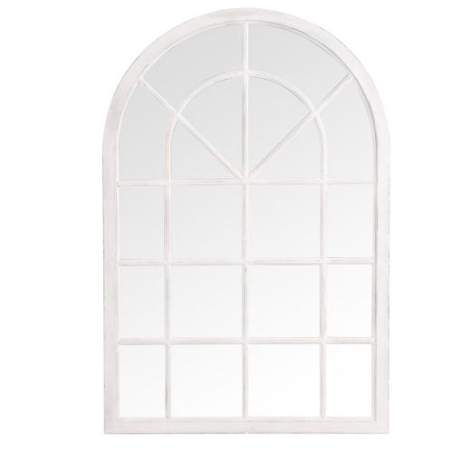 . Small Arched Window Mirror White